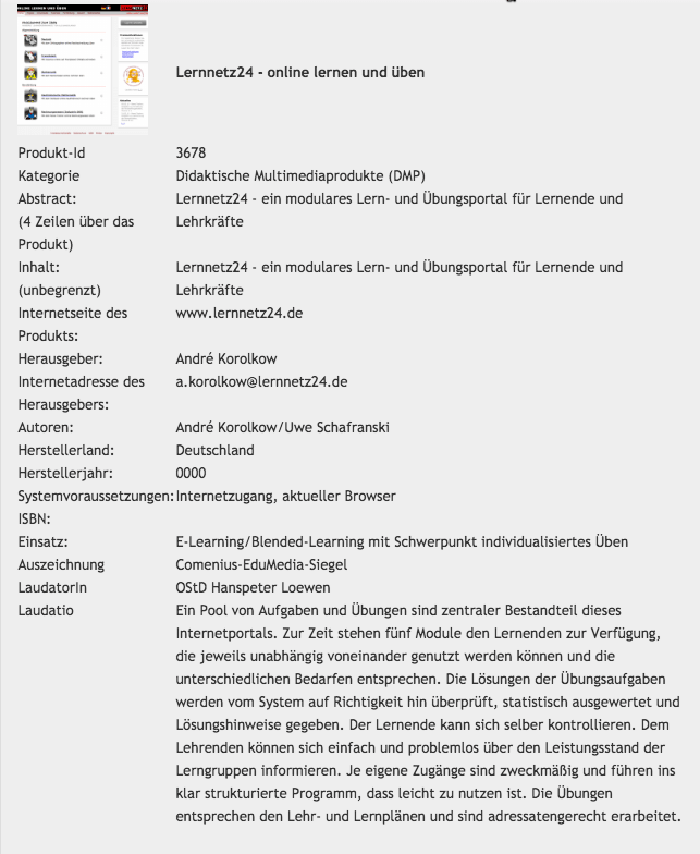 Screenshot der Laudatio